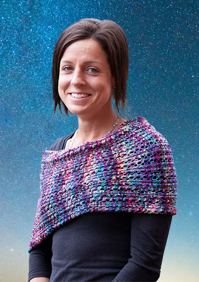 Free pattern offer with purchase of Malabrigo Sock knitting yarn - Montevideo Shrug/Cowl versatile garment