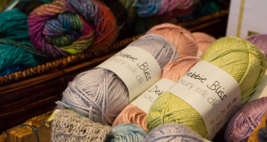 Image of our Noro yarn and Debbie Bliss Pure Silk at Pakenham Stitch