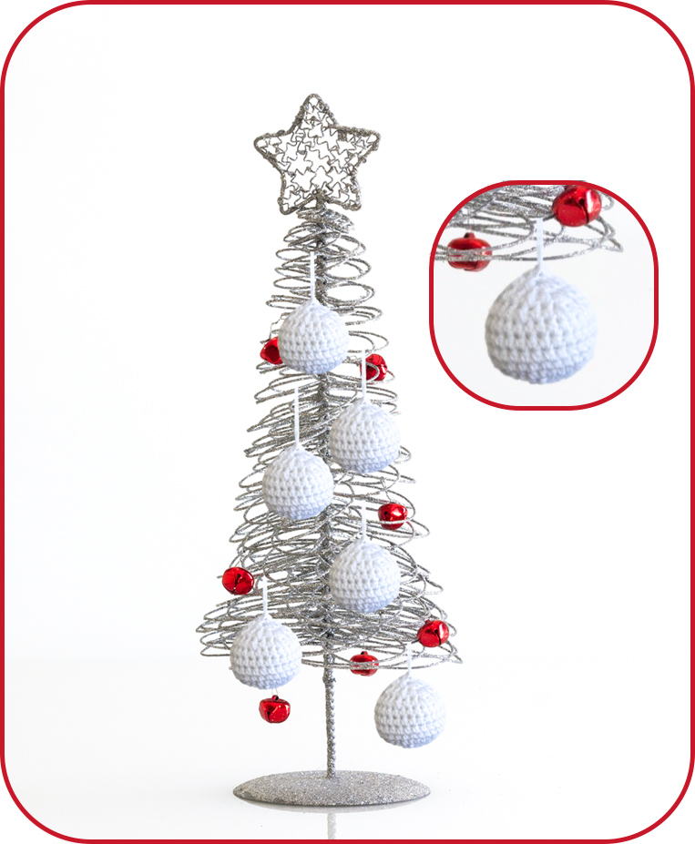 Crocheted Christmas Tree Bauble pattern free project