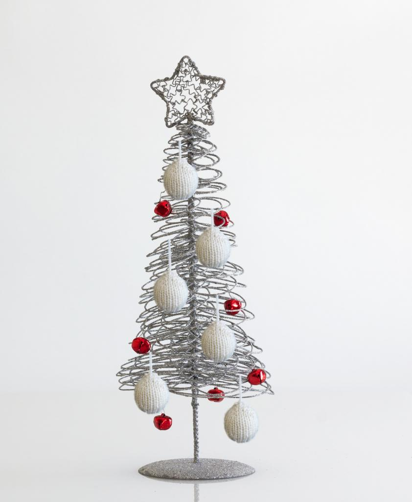 Free Pattern Knitted Christmas Tree Bauble | Knitting Yarns by Mail