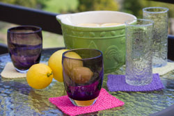 Image of our Sunny Days Drink Coaster Set free knitting pattern