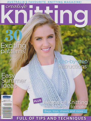 The cover of Creative Knitting issue 47, featuring our Silk Cowl