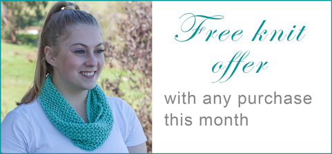Free Pattern Offer: pull on cotton cowl, free with any purchase this month