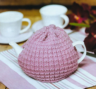 Image of our Harris Tweed Tea Cosy knitting pattern