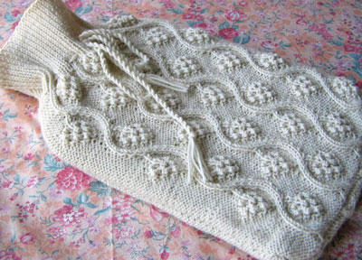 Image of our finished Grapes on Vine Hot Water Bottle Cover