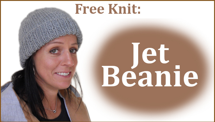 Get this Beanie in Patons Jet knitting pattern free when you purchase any item from our store.  Limited time only