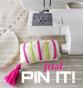 Just Pin It: free knitting pattern for our merino magic highlights pincushion