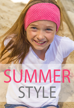 Free Summer Style: try this simple knotted headband in pure cotton for a cool Summer accessory