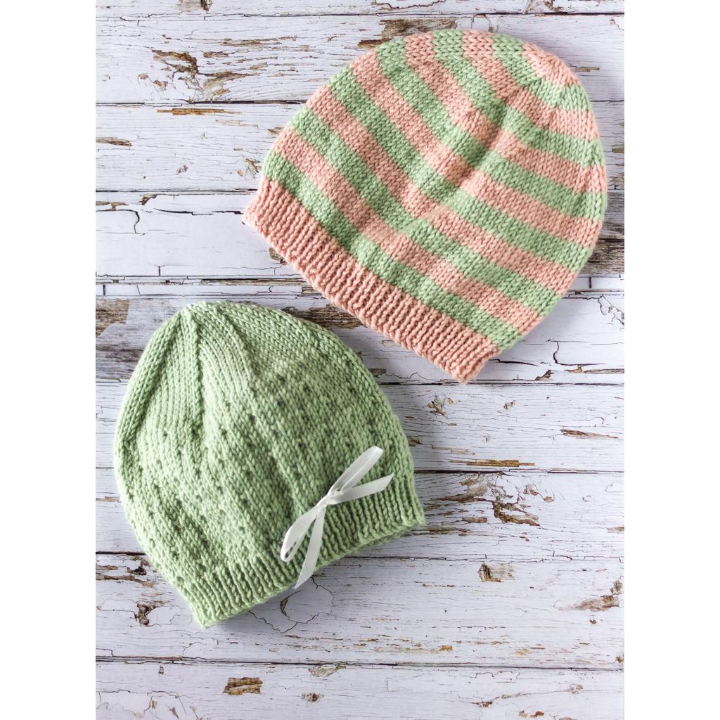 Kit  Trio of Cashmerino Baby s Hats in Debbie Bliss yarn KKA1723 ... eadec6a745a