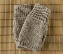 Image of fingerless gloves worked in Natural Merino Magic Fleck