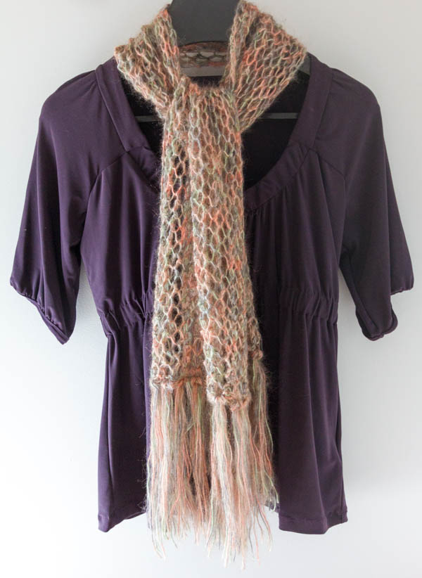 Lacy Damasco mohair scarf knitting pattern 2, free when you buy Damasco mohair knitting yarn