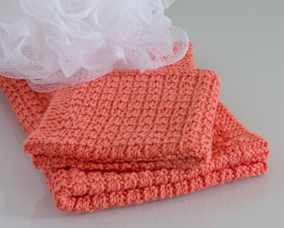 Waffle Stitch Hand Towel and Face Washer