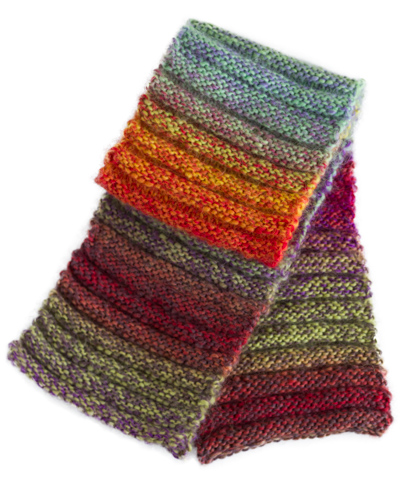 Knitting Kit for Family Scarf in Ridge Stitch, kitting pattern for toddlers and preschoolers, children and adults