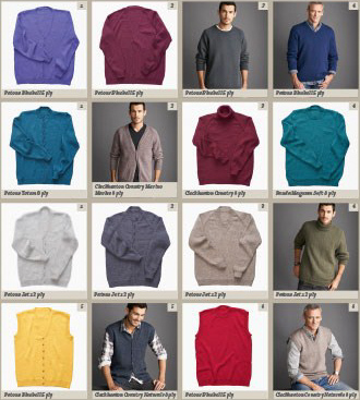 Knitting Patterns for men inside Mens Classic Knits from Patons Book 354