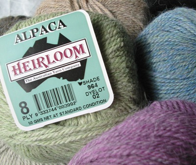 Image of Heirloom Alpaca knitting yarn