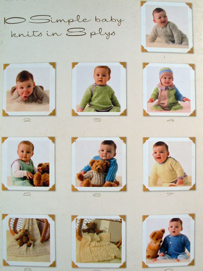 Patterns from 10 Simple Baby Knits in 8plys