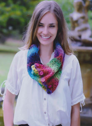 Image of our Button Up Kureyon Cowl knitting pattern