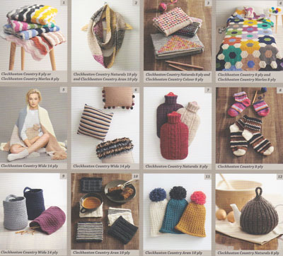 Image of patterns inside Cleckheaton's hand made gifts for knit and crochet 2001