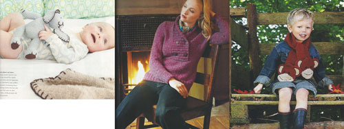 Some of the patterns inside the Debbie Bliss Knitting Magazine by Vogue