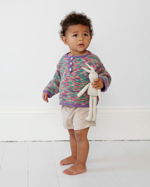 Eco Baby Prints from Debbie Bliss, pure organic cotton knitting yarn perfect for babies and sensitive skin