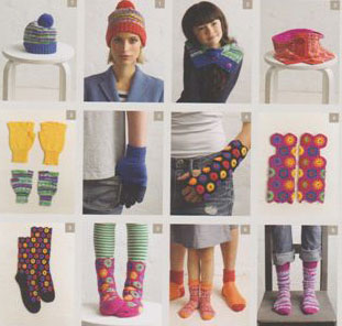Image of knitting patterns inside Patons Head, Hands & Feet 8018