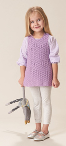 Girls Cotton Swing Tunic Heirloom Pattern Leaflet 003 crochet pattern for 4ply cotton yarn
