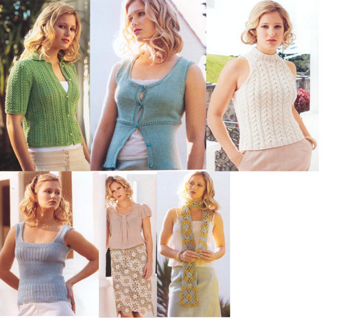 Some of the knitting patterns inside Knit - Issue 5 from Jo Sharp