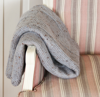 Cleckheaton Country Naturals throw rug kit, knitting pattern and yarn