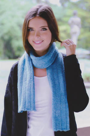 Image of our Rib Scarf knitting pattern