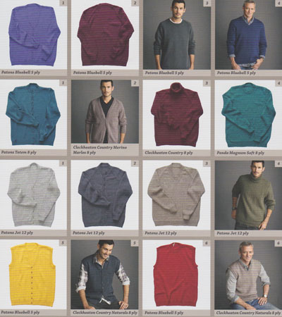 Image of the Knitting Patterns inside Men's Classic Knits