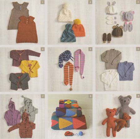 Image of knitting patterns inside Patons Modern Kids 1317