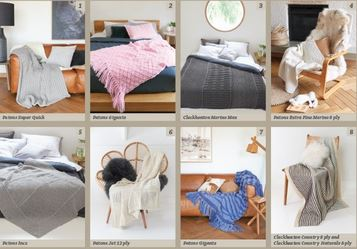 Images of Patterns inside Cleckheaton Patons knitting pattern book Neutral Home 109, homewares, bedspreads and throws