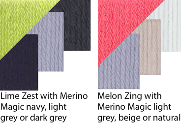 Mix and Match Merino Magic Highlights shades with your favourite Merino Magic neutrals to create stunning home decor looks