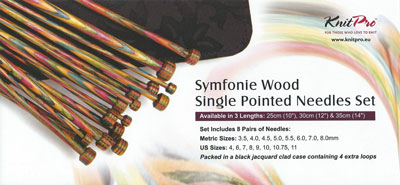 Knit Pro Symphonie Wood Single Pointed Needles Set